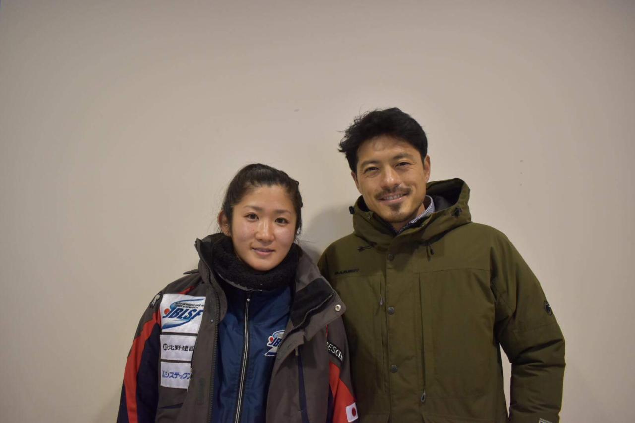 左:小口貴子選手 右:鈴木啓太