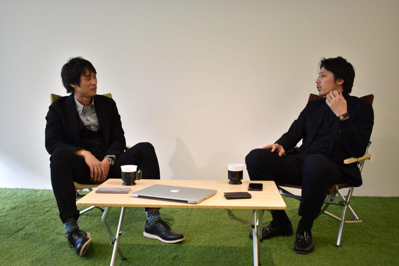 右:横田真人 左:池田信太郎 対談場面1